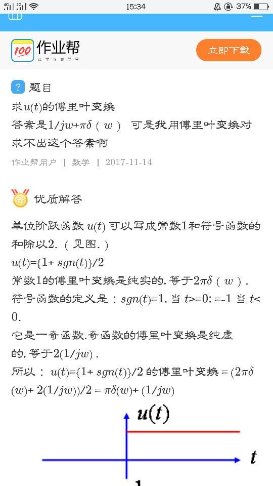 u(t-2)傅里叶变换