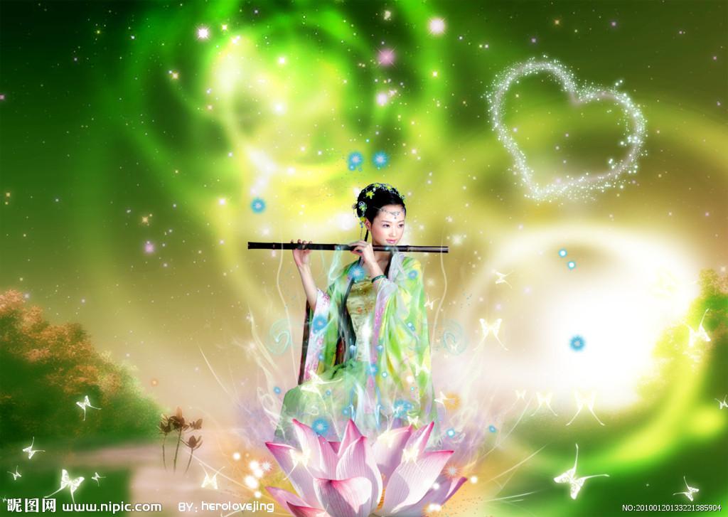 古代美女吹笛子图片_跪求一张紫色的古风女子吹箫的图片_百度知道