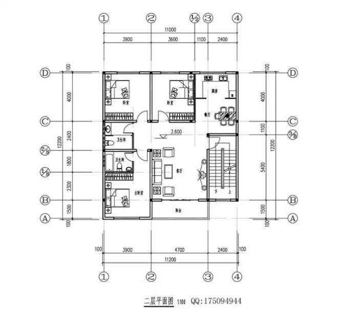 农村10x10房屋设计平面图