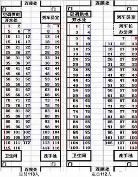 火车软卧车厢号码_Z59列车哪些号码的坐位是靠窗的?_百度知道