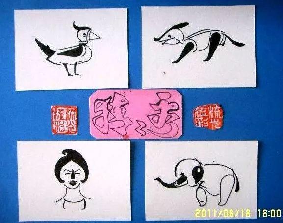 4个老虎猜4个成语_成语故事简笔画4个图