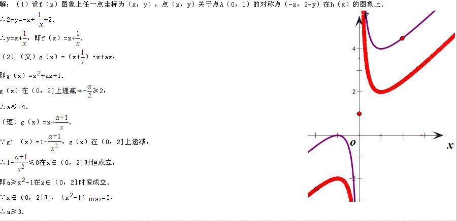 适合做小�9h�y�9�9f�x�_函数f(x)的图象与函数h(x)=x+x分之一+2的图象关于点a