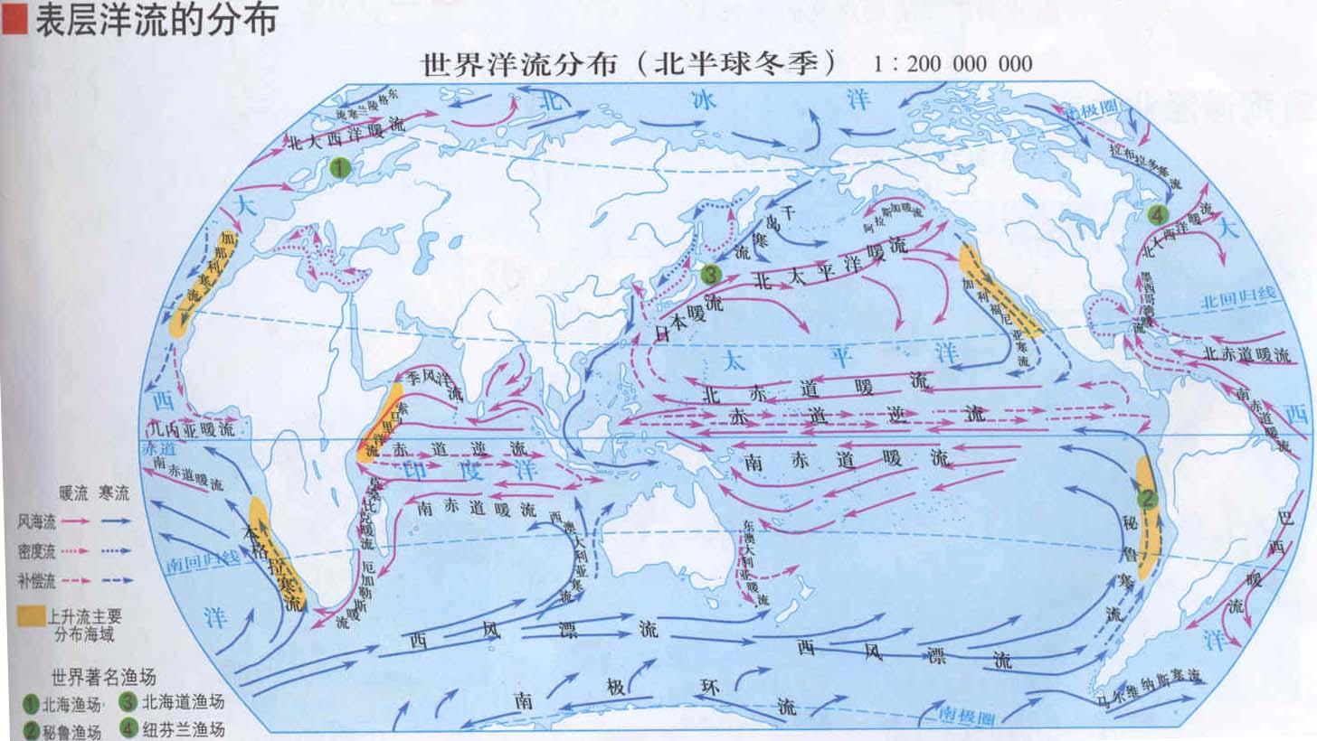世界洋流分布模式图_求世界洋流分布图,要8/0那种的_百度知道