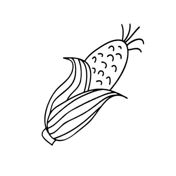 1串玉米简笔画图片_简笔画水稻,花生,玉米,怎么画_百度知道