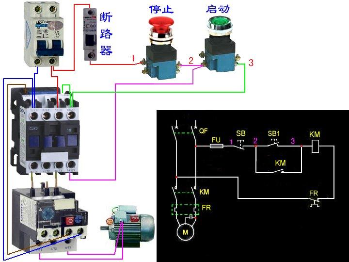 色肉囹�a��(�-c_天正czx2 09-10接触器接线原理图