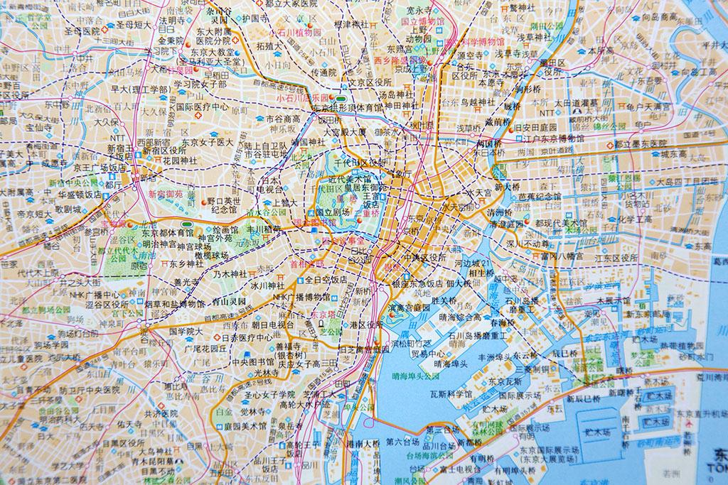 求日本东京地图比较大的电子版图片,我需要人在上面标注低点,越清晰