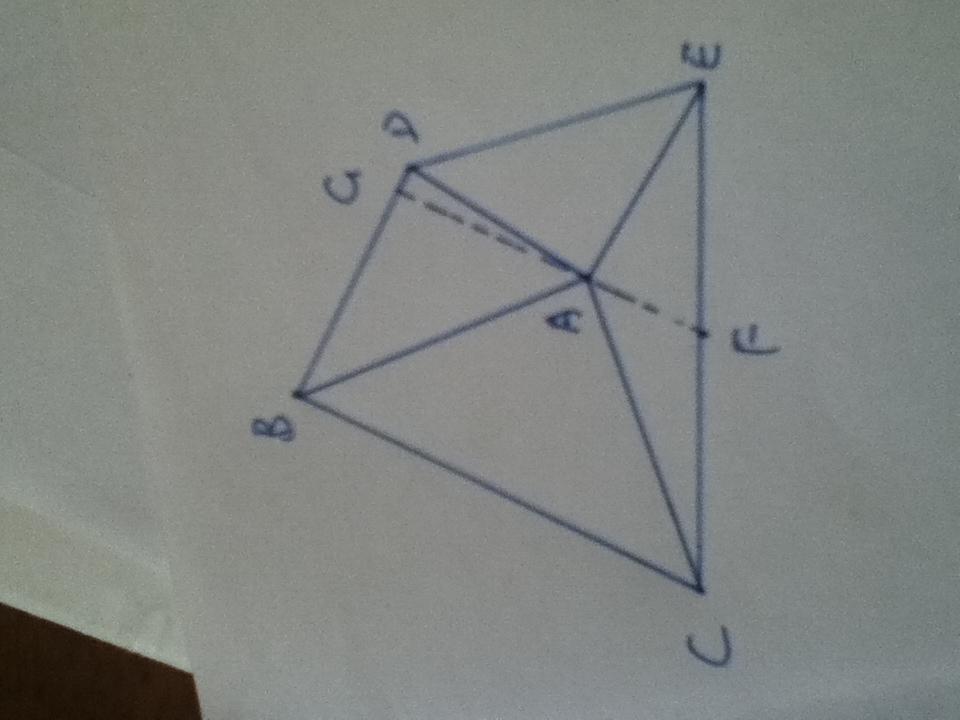 ADE是等腰直角三角形 F是CE的中点 连接AF延长至G 求证AG垂直