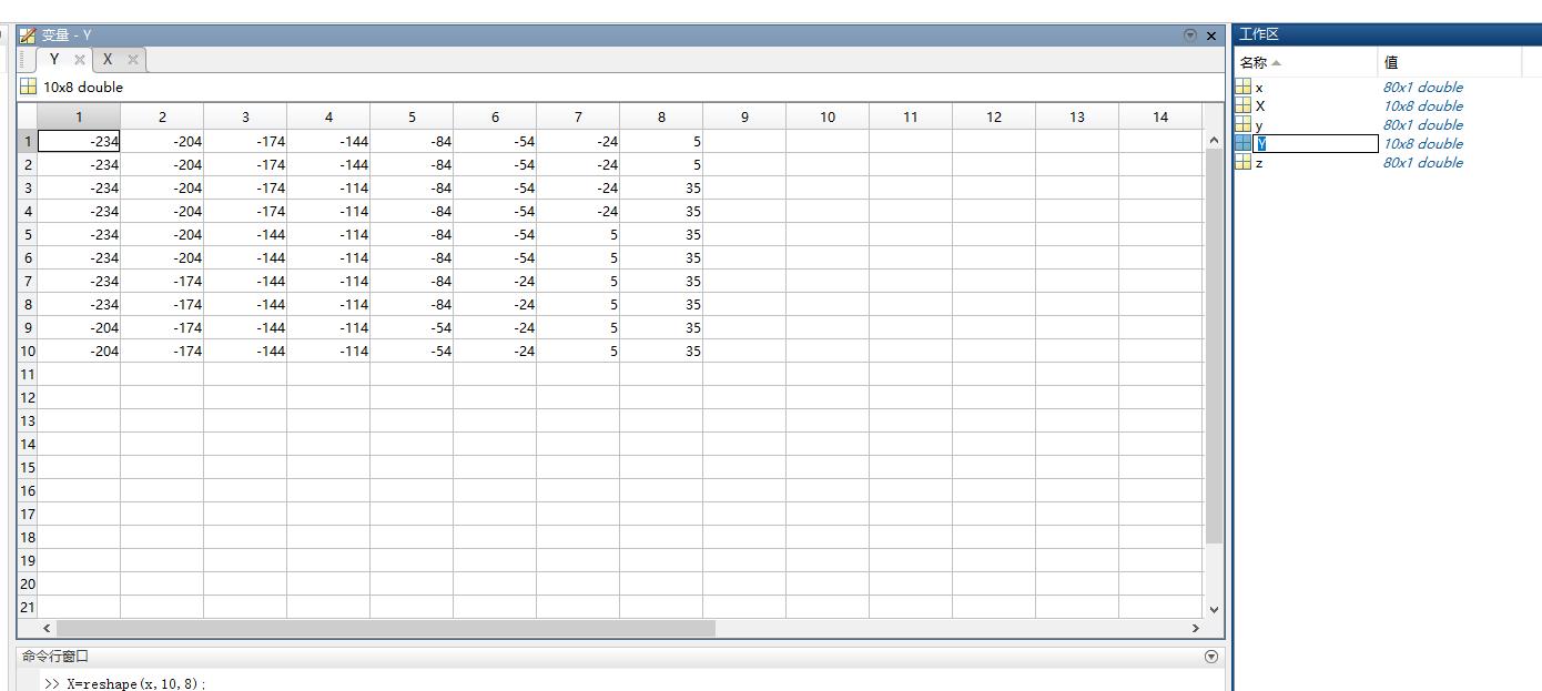 matlab reshape 两个矩阵,做成坐标_百度知道
