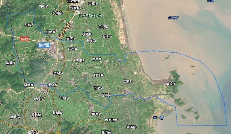 台州?#26032;?#26725;区卫星地图