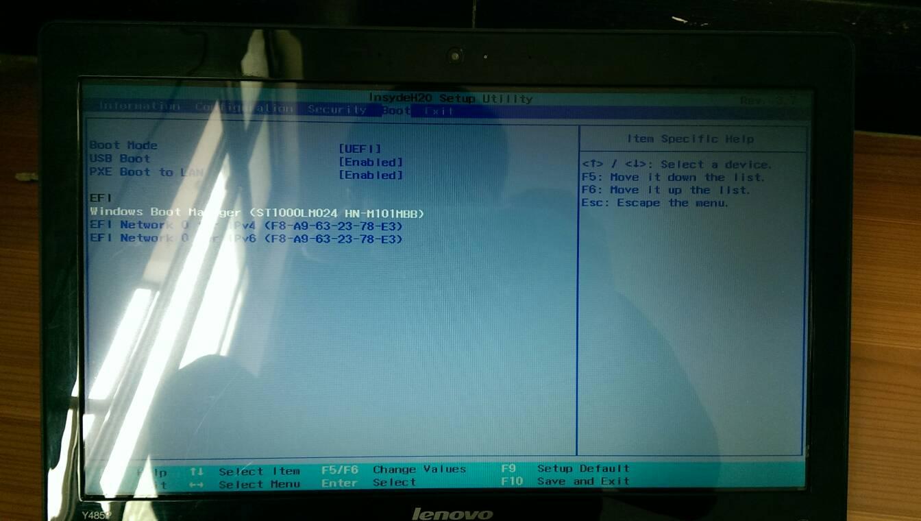 insydeH2O的BIOS如何设置第一启动项为USB启动在BOOT项里没有找到啊