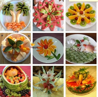 水果动物造型图片简单_急需水果拼盘图片,要有创意的,最好是小动物或者人的,水果 ...