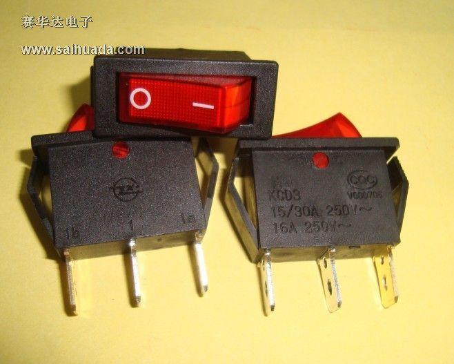 六脚带灯的开关怎么接?_船型开关kcd3的三个接线端子带电源指示灯怎么接在直流电路里 ...