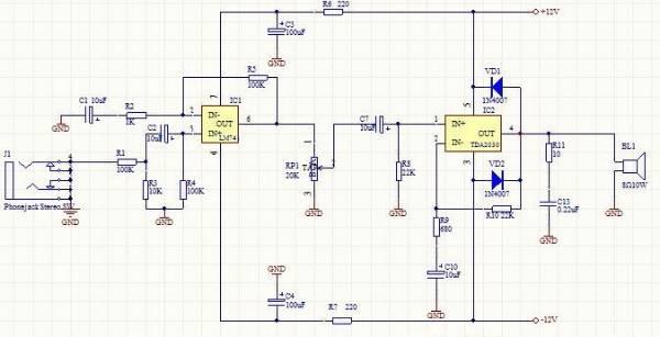 胆石功放的原理_发烧级胆石功放电路图