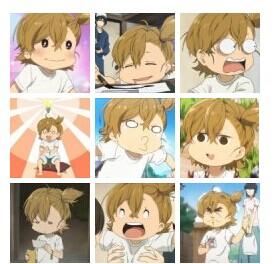 求图里这个扎一边头发穿白色上衣的可爱小男孩是那步日本动漫