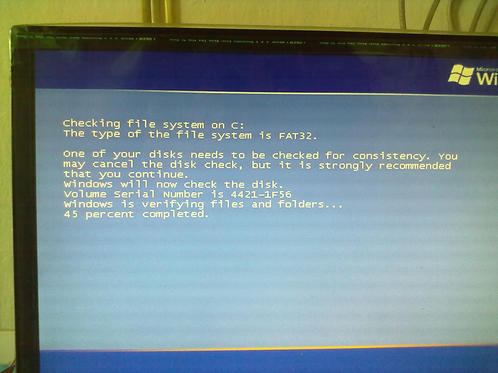 Checking File System on C: | Vista Forums