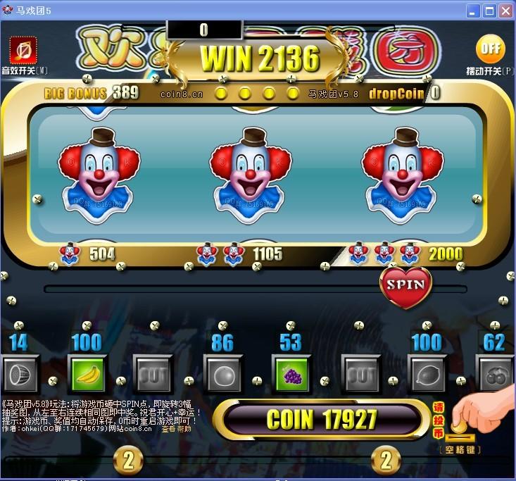 疯狂马戏团推币机_小丑马戏团游戏机怎么设置出票_百度知道