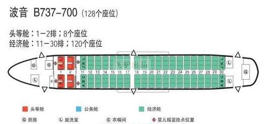 厦航737飞机座位分布�_厦门航空MF8326座位怎么排列_百度知道