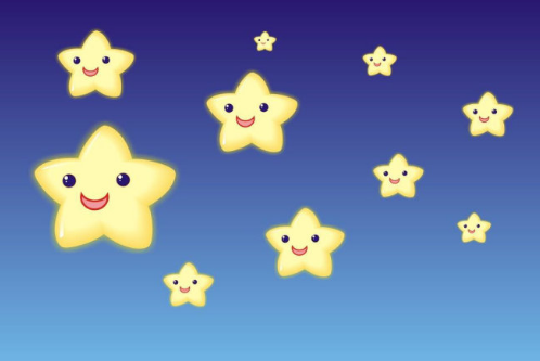 星星眼睛我写拟人句