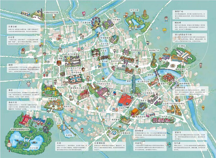 有天津的手绘地图吗