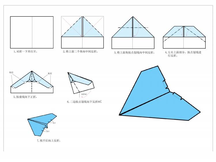 飞机怎么折飞一百米_怎样折纸飞机飞得最远_百度知道
