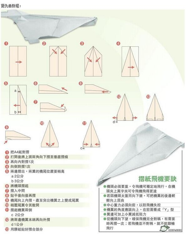 飞机怎么折飞一百米_世界上飞的最久的纸飞机怎么叠?_百度知道