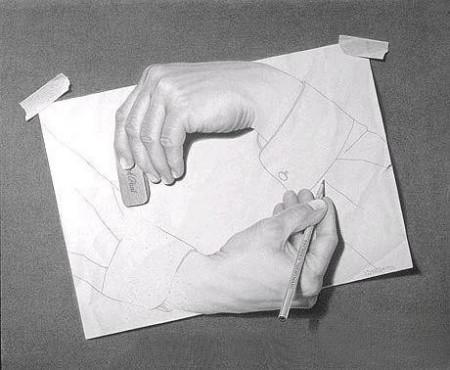 """以""""手""""为主题的创意设计素描我要怎么画?求教"""
