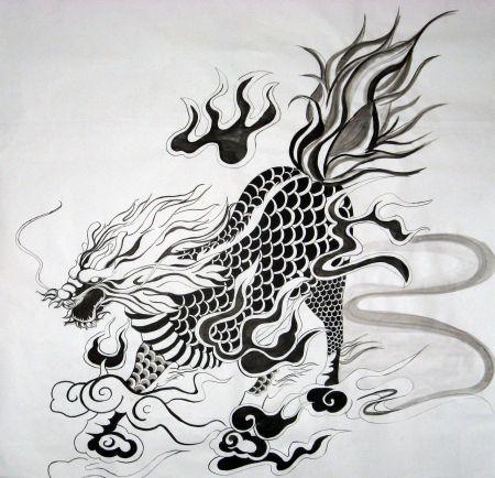店三轩张莜雨裸体_求这张麒麟图的高清版,是盗墓笔记张起灵的纹身图