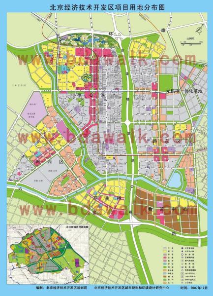 北京亦庄地图