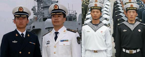 海军服装_为什么中国海军的衣服是白色的,而空军的却是蓝色的呢,可是 ...