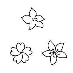 怎样画桃花花瓣一片一片的简笔画