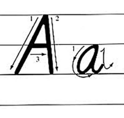 归纳如下:   (1)一笔完成的字母:   二、26个英文字母的笔顺:   字母要按一定的笔划顺序书写,其书写笔顺如下:   (请注意书写的格式和大小写的区别)