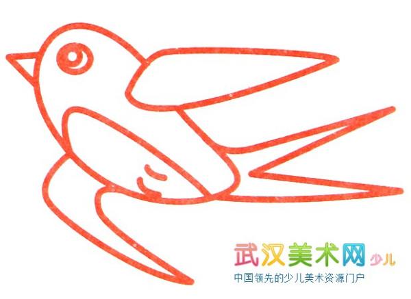 垂柳大雁的简笔画有哪些