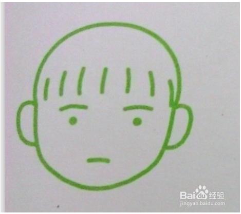 简笔画娃娃脸的几种画法