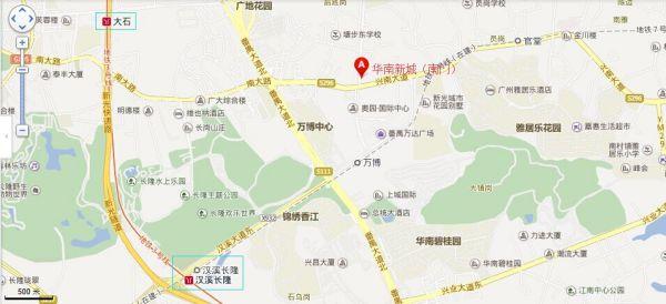 禺华南新城靠近广州地铁七号线哪个站图片