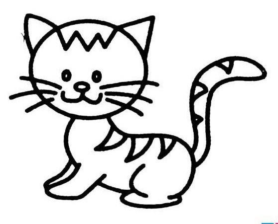 小猫的尾巴怎么画简笔画