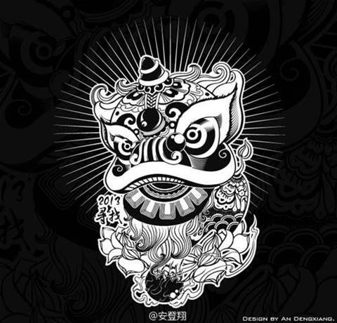 doodle wallpaper black and white