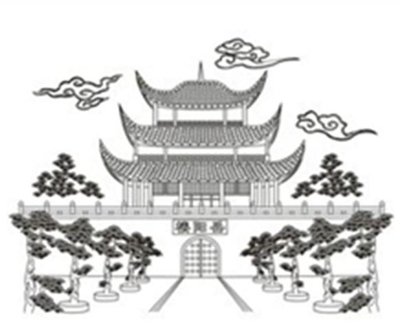 岳阳楼的简笔画怎么画