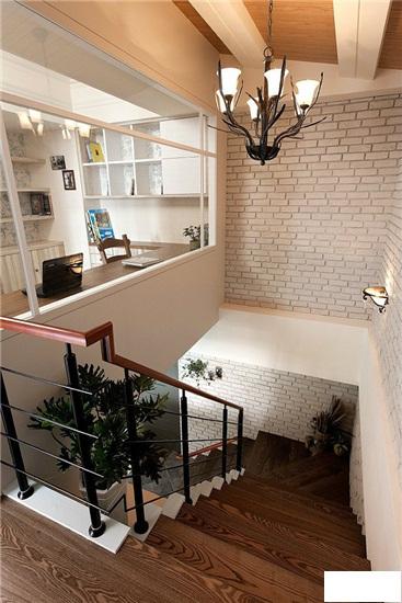 楼梯怎么装修有没有跃层装修效果图推荐?实木屏风隔断