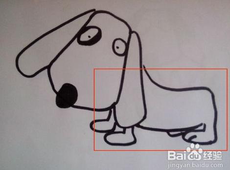 如何画小狗 小狗简笔画步骤图
