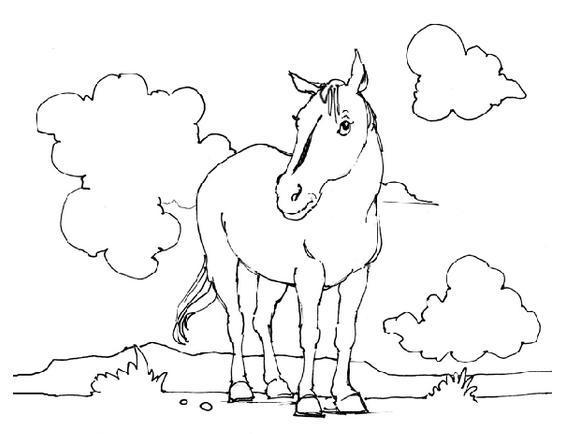 马怎么画简笔画