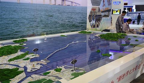港珠澳大桥在地图上的位置