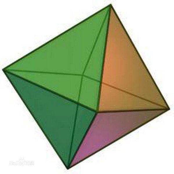 八面体,一种正多面体,面为正三角形,顶点为正四面角,八面体的对图片