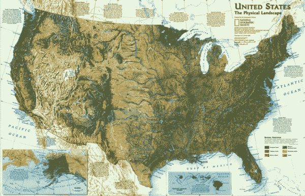 农业机械化程度_美国的主要地形有哪些?分布在美国哪个方位_百度知道