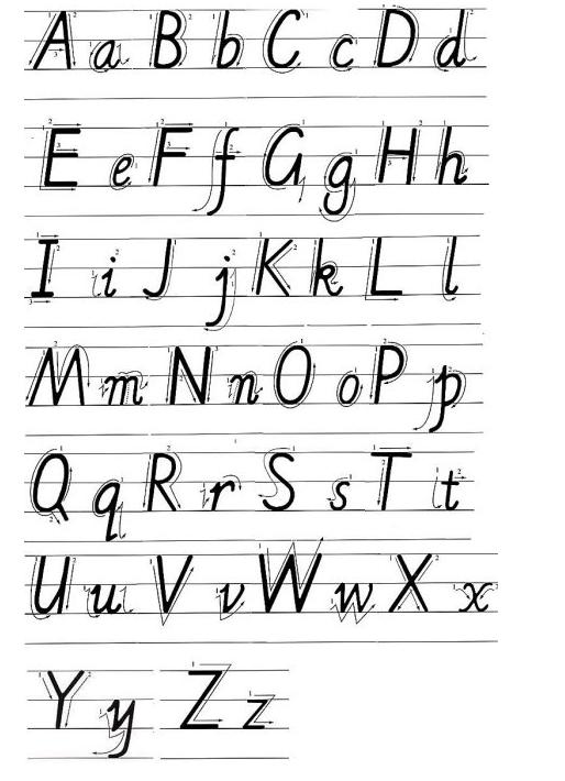 大写字母的笔画顺序怎么写