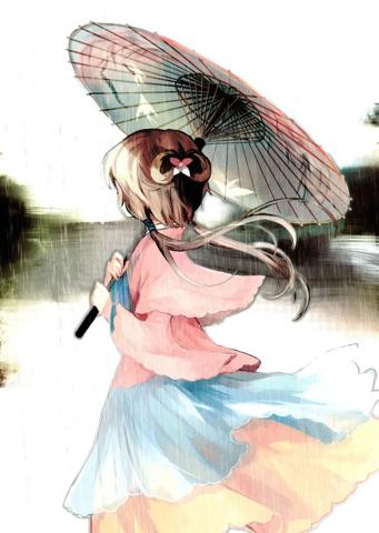 撑伞动漫头像_求古风动漫女生头像,女的是撑伞、拿扇子的_百度知道