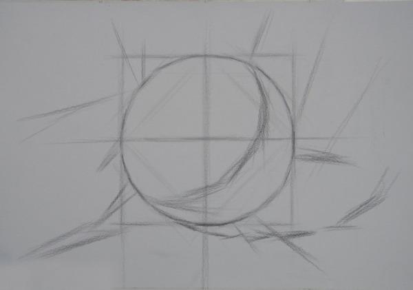 求 球的素描步骤 图图片