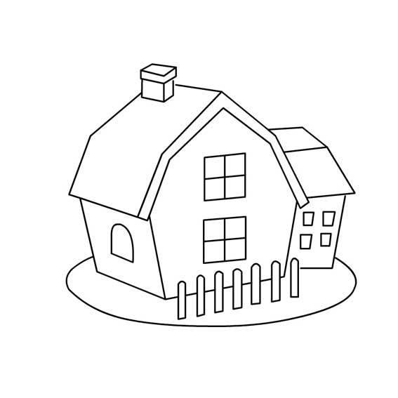 幼儿园 简易画  房屋_简笔画—三种不同的房子_百度知道