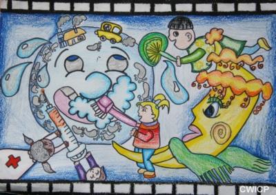 六年级学生绘画获奖作品大全_科幻画的一等奖作品(图片)_百度知道