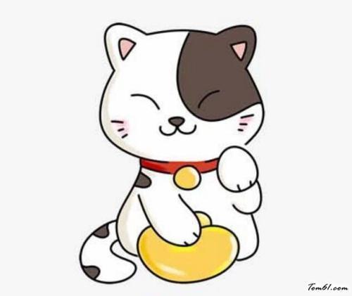 彩色小花猫的简笔画多用深黄或橙色上色.
