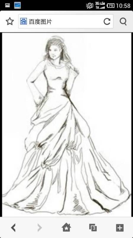 素描婚纱图片大全简单_简单素描图片大全